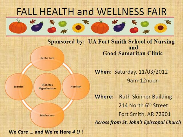 Flyer for Health Fair
